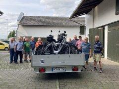 Die Mitglieder der Radwanderabteilung freuen sich auf die Wochenfahrt ins Weserbergland